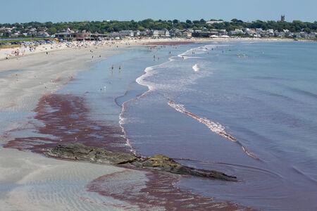 Newport beach  Rhode Island Stock Photo