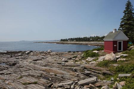 Rock ledges at Pemaquid Point, Maine, USA