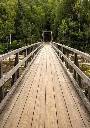Walking bridge White Mountains  New Hampshire Stock Photo