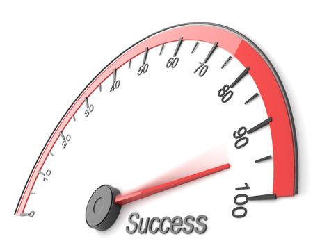 成功のスピード メーター 写真素材