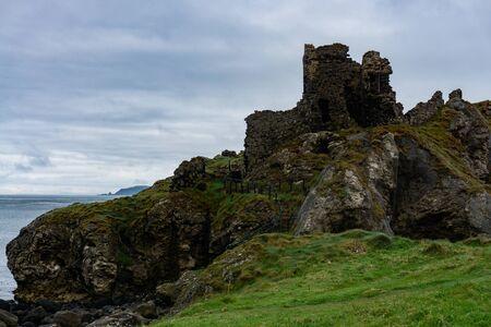 Ruins of the castle Kinbane on the Kinbane head