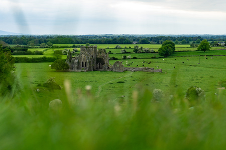 Ireland, Cashel, May 2019: Hore Abbey. Historic Landmark