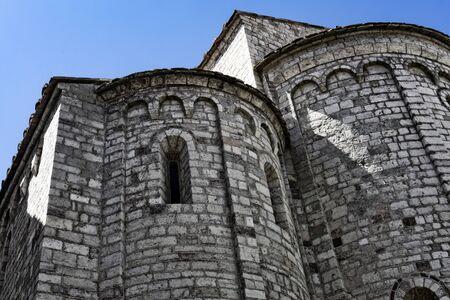 medieval building, St. Eufemia Church. Spoleto. Umbria. 版權商用圖片