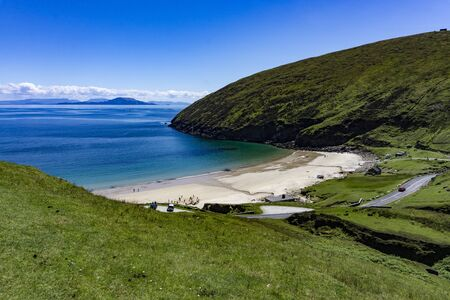 The beautiful Keem bay at Achill Island, in Co. Mayo, Ireland. Stock Photo