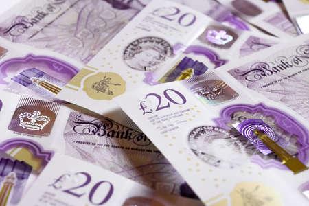 Twenty pounds, British sterling pound note