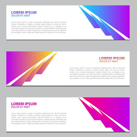 Set of Banner background.business template.modern design