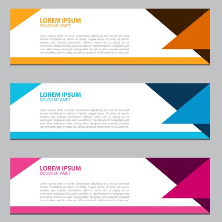 Banner background.business template.modern design Illustration