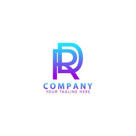 Initial RD Logo Design Vector