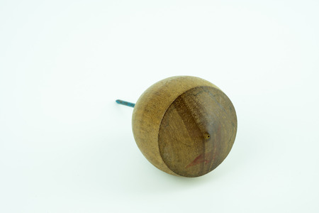 lear: Traditional Toy - Spinning Top on white background