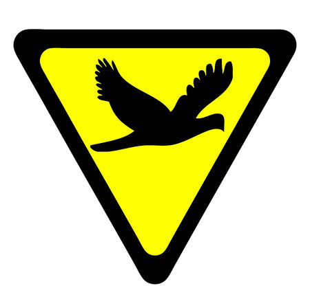 Safety signs warning  Birds photo