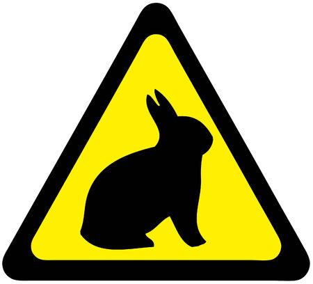 respectfully: Safety signs warning  rabbit