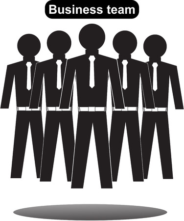 uniting: Collection of office workers and business team