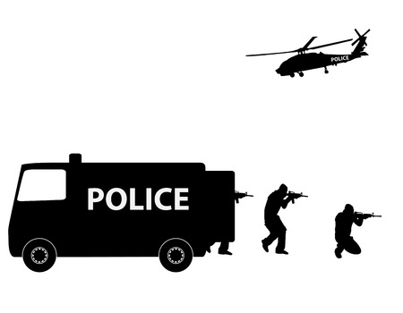 special forces: Vector illustration    Special Forces   SWAT Team  Police Illustration