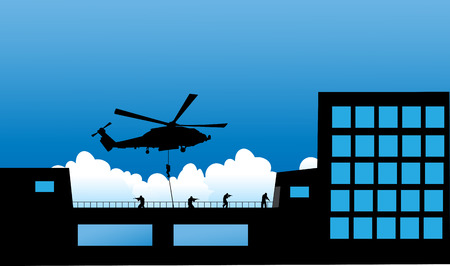 special forces: Vector illustration    Special Forces   SWAT Team  Police Hostage Rescue Illustration