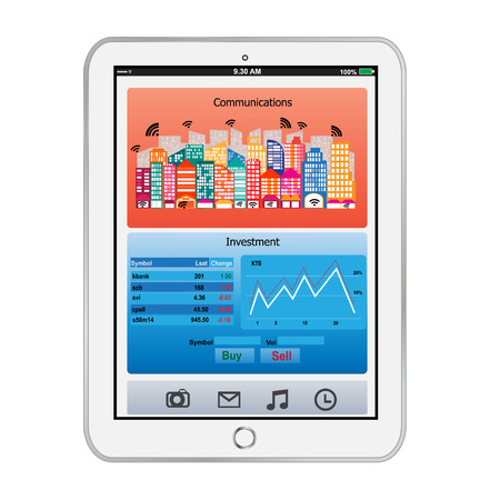 i pad:    Tablet Communicatione-and-Investment