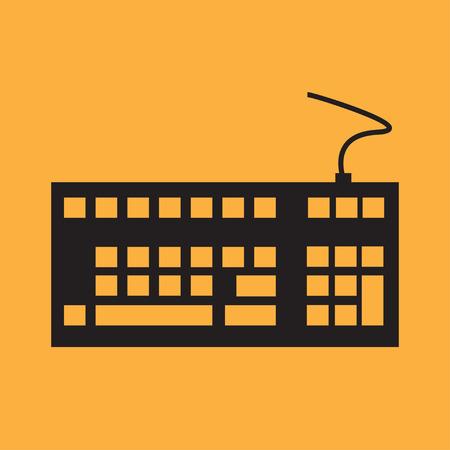 escape key: Computer keyboard. Vector Illustration