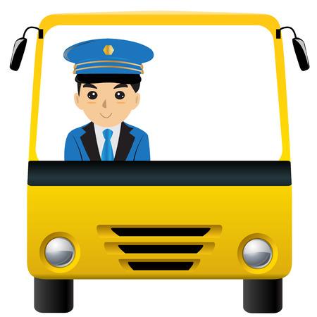 chauffeur: Bus driver  carman  driver white space   isolated