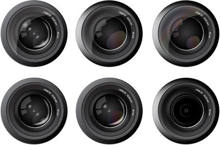 カメラ写真レンズ焦点反射  イラスト・ベクター素材