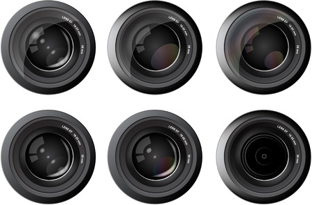 Camera photo lens  focus reflection