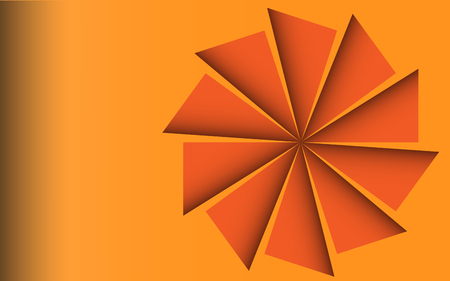 abstract oranje: Abstracte Oranje turbine achtergrond Stock Illustratie