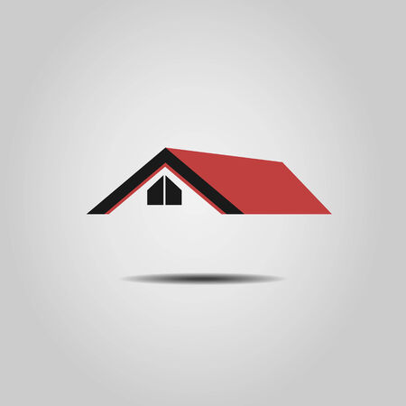 House  Real Estate red roof design Vector