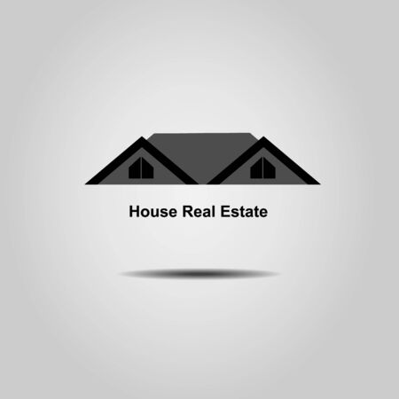 real estate house: House  Real Estate  logo design Illustration