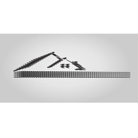 icone immobilier: Maison Immobilier ic�ne du design, le concept croquis Illustration