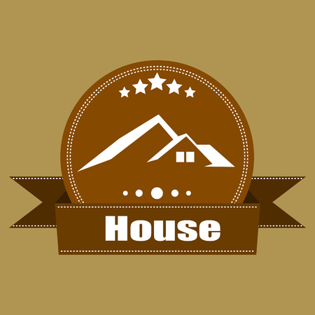 House Real Estate  Retro Vintage  logo labels  design - Vector elements, business signs, logos,  labels, badges