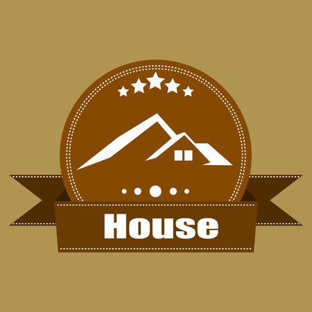 House Real Estate  Retro Vintage  logo labels  design - Vector elements, business signs, logos,  labels, badges