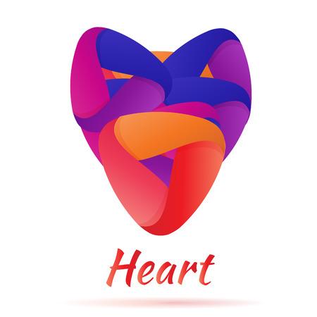 Abstract Logo heart love   business. Vector Vector
