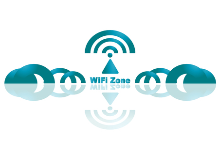 Abstract Logo wifi business. Vector Vector