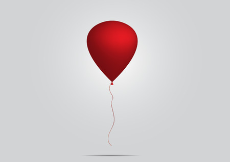 red balloon: Red balloon 3D - vector illustration