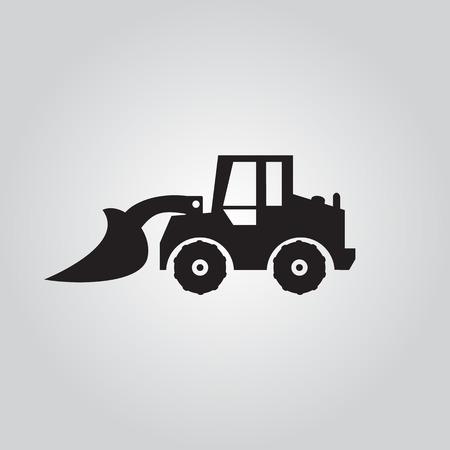 agrario: Motoniveladora espect�culo logotipo, ilustraciones vectoriales Vectores
