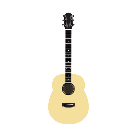 strum: Acoustic guitar - vector