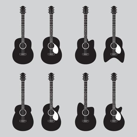 guitar  icons  vector Vector