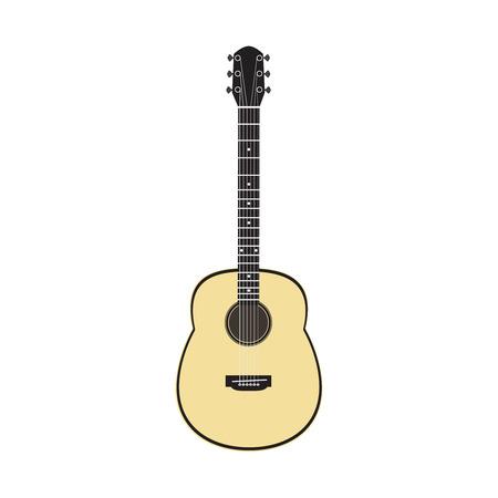 rosin: Acoustic guitar - vector