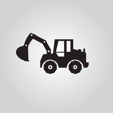 dredging tools: Wheel Excavator logo , vector  Illustrations