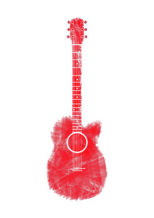 red Guitar Vector