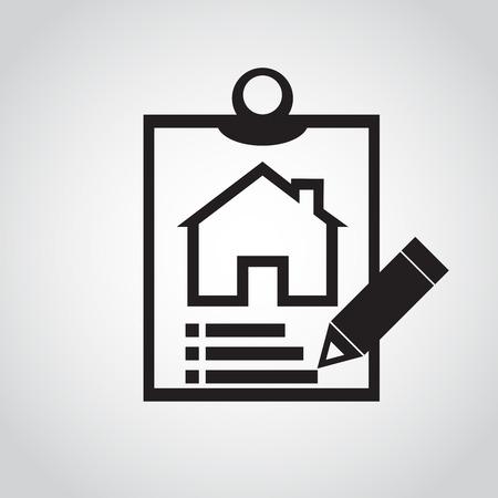 notes icon design home  vector Vector