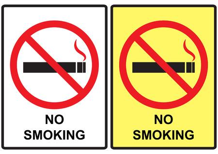 pernicious habit: No smoking sign design set 3