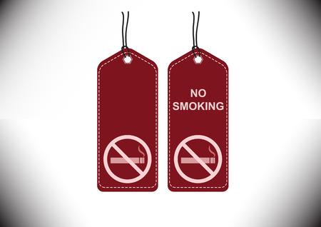 Tags label no smoking sign design