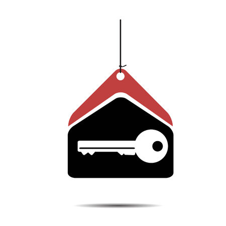 modern residential construction: House key  icon design