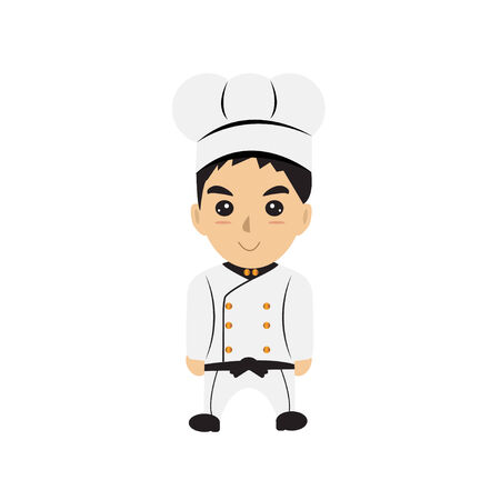 proffesional: Chef  cartoon isolated vector Illustration