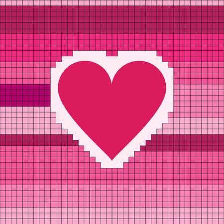 Heart  Pixel Vector