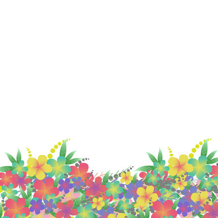 Flower bouquet greeting card background Vector
