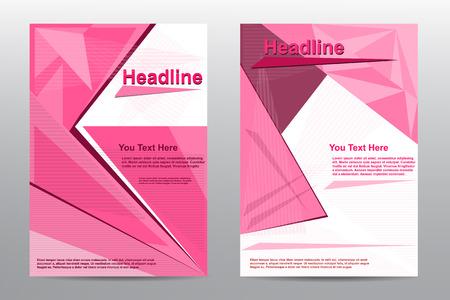 Brochure Flyer pink abstract design template Vector