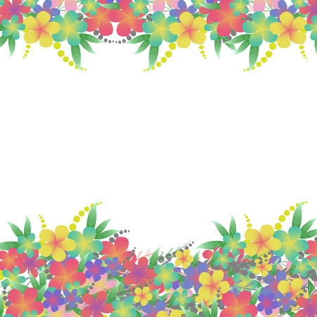 marriage bed: Vector Flower bouquet greeting card background Illustration