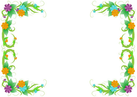 marriage bed: Flower bouquet greeting card background  frame