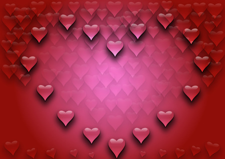 Heart background illustration illustration