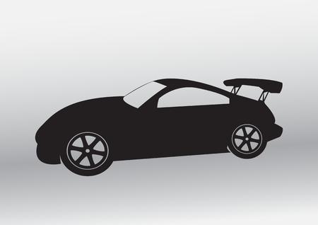 Car design Spoiler car symbol and icon Stock Photo